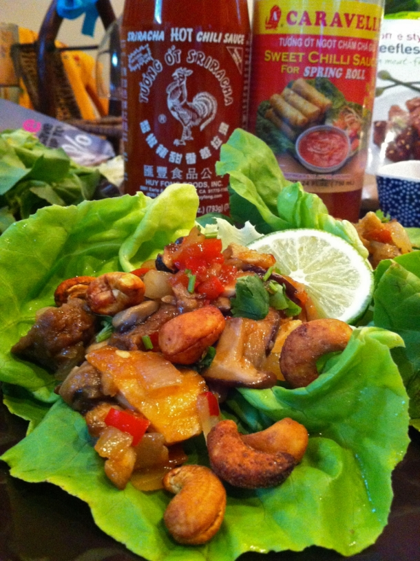 Meatless Lettuce Wraps