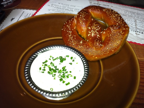 Brave Horse Pretzel and Clam Dip