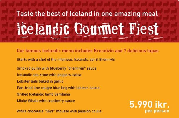 Tapas Barrin Icelandic Feast Menu