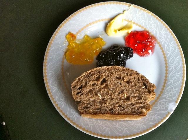 KEX Hostel Breakfast Bread and Jelly