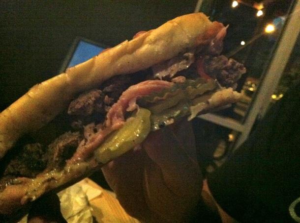 Haymaker Cuban Pressed Burger