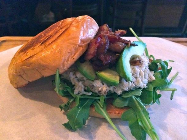 Chilled Crab Club Sandwich