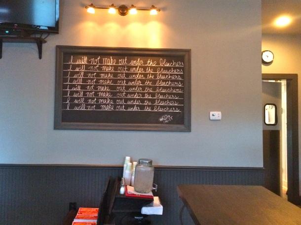 School House Pub Chalkboard