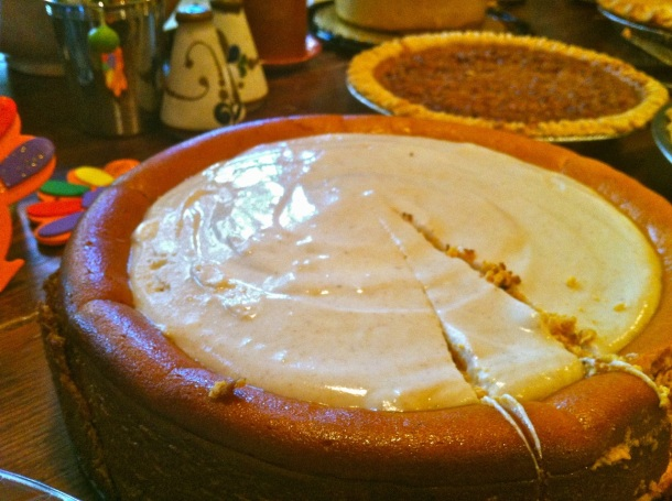 Pumpkin Cheesecake with Marshmallow-Sour Cream Topping and Gingersnap ...