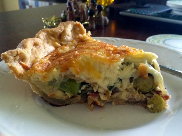 Gruyere Brussels Sprouts Quiche