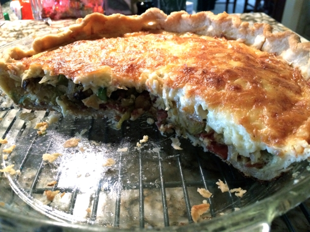Whole Brussels Sprouts Quiche