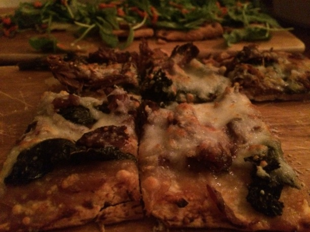 No Va Flatbread Short Rib Pizza