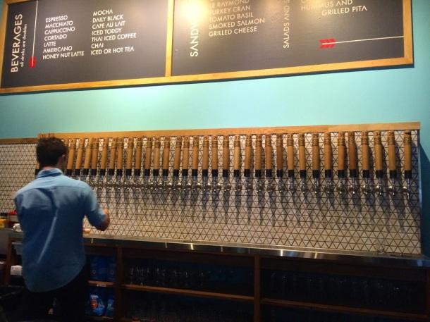 Thunderbird Coffee Beer Tap Wall