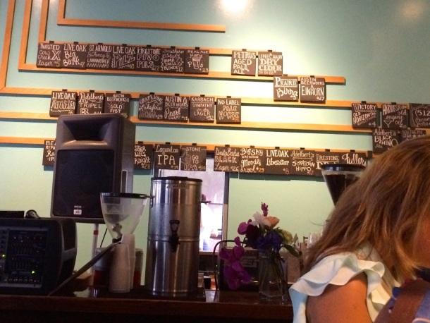 Thunderbird Coffee Beer Wall List