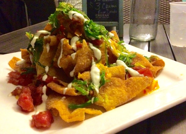 Secret Harbor St. Thomas Cruzan Beach Club Ahi Nachos
