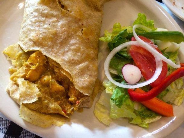 Gladys Cafe St. Thomas USVI Charlotte Amalie Chicken Roti