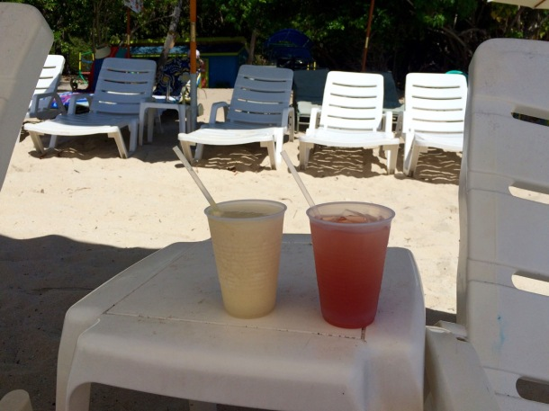 Dinghy's Beach Bar Rum Punch Water Island