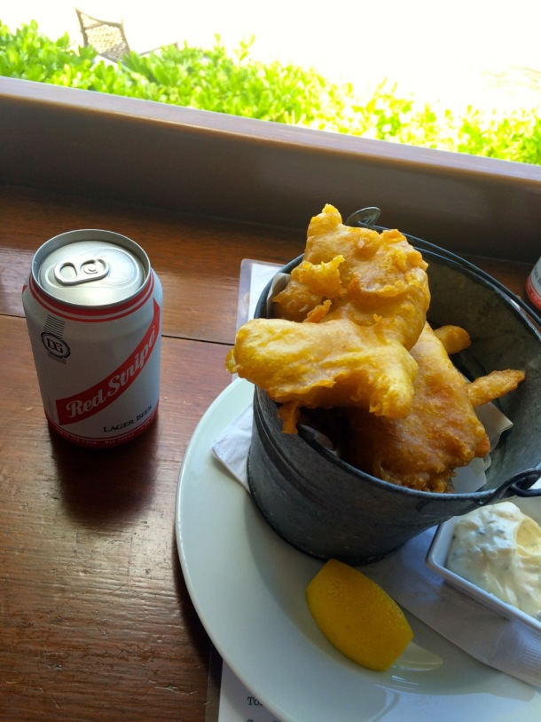 Cooper Island Beach Club Fish and Chips