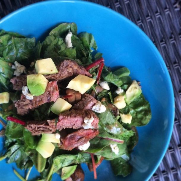 Summer Steak Salad with worcestershire dijon dressing