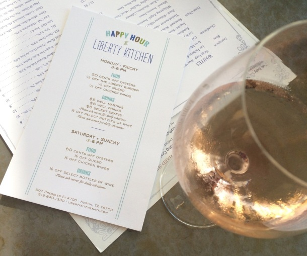 Liberty Kitchen Austin | Happy Hour Menu