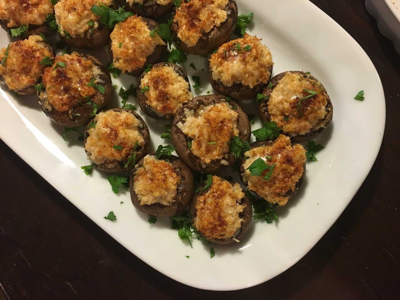 Crab Stuffed Mushrooms | Super Bowl Appetizers
