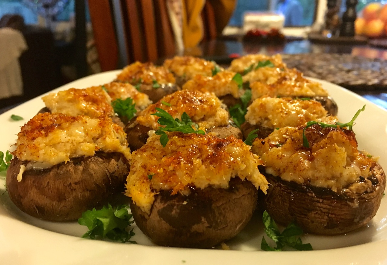 Crab Stuffed Mushrooms | Super Bowl Appetizer