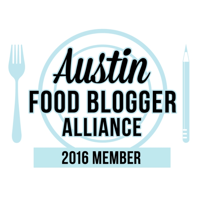 I'm a member of the Austin Food Blogger Alliance!
