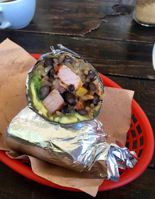 Burrito Amor Pork and Pineapple Burrito Tulum | A Time to Kale