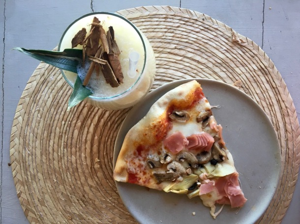 Pina Colada and Pizza at Casa Violeta | A Time to Kale