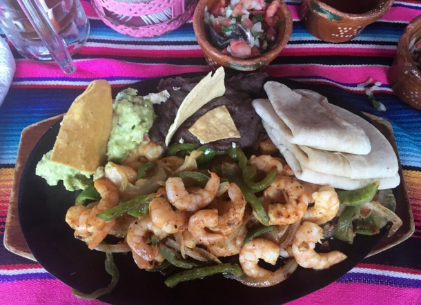 La Coqueta Shrimp Fajitas in Tulum | A Time to Kale