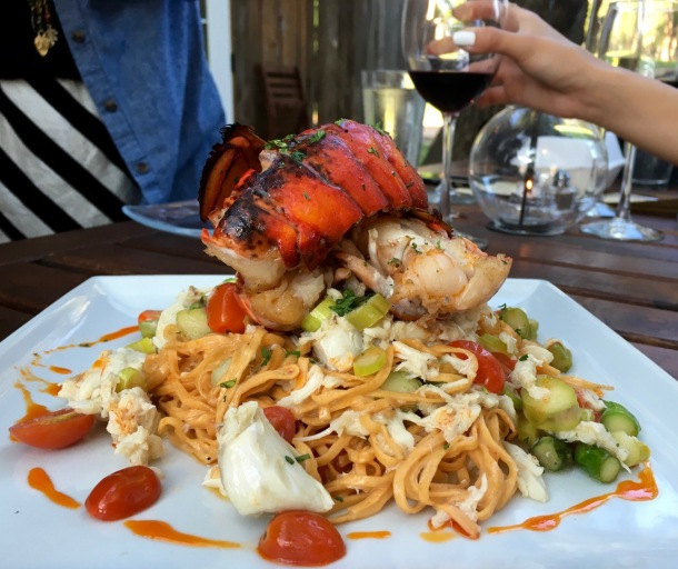 Lobster and Crab Pasta at Jobell Cafe and Bistro in Wimberley, TX | A Time to Kale