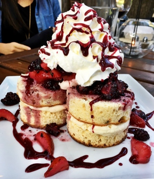 Strawberry Shortcake at Jobell Cafe & Bistro Wimberley, TX | A Time to Kale